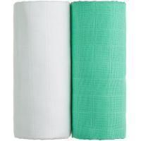 T-tomi Látkové TETRA osušky 2 ks Bílá a zelená