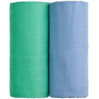 T-tomi Látkové TETRA osušky 2ks modrá + zelená
