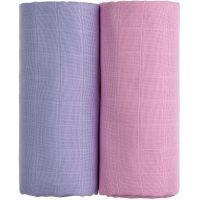 T-tomi Látkové TETRA osušky 2 ks Růžová a fialová