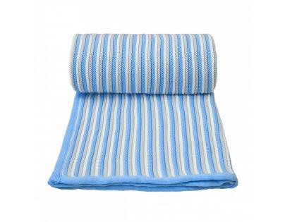 T tomi Pletená detská deka bielo modrá