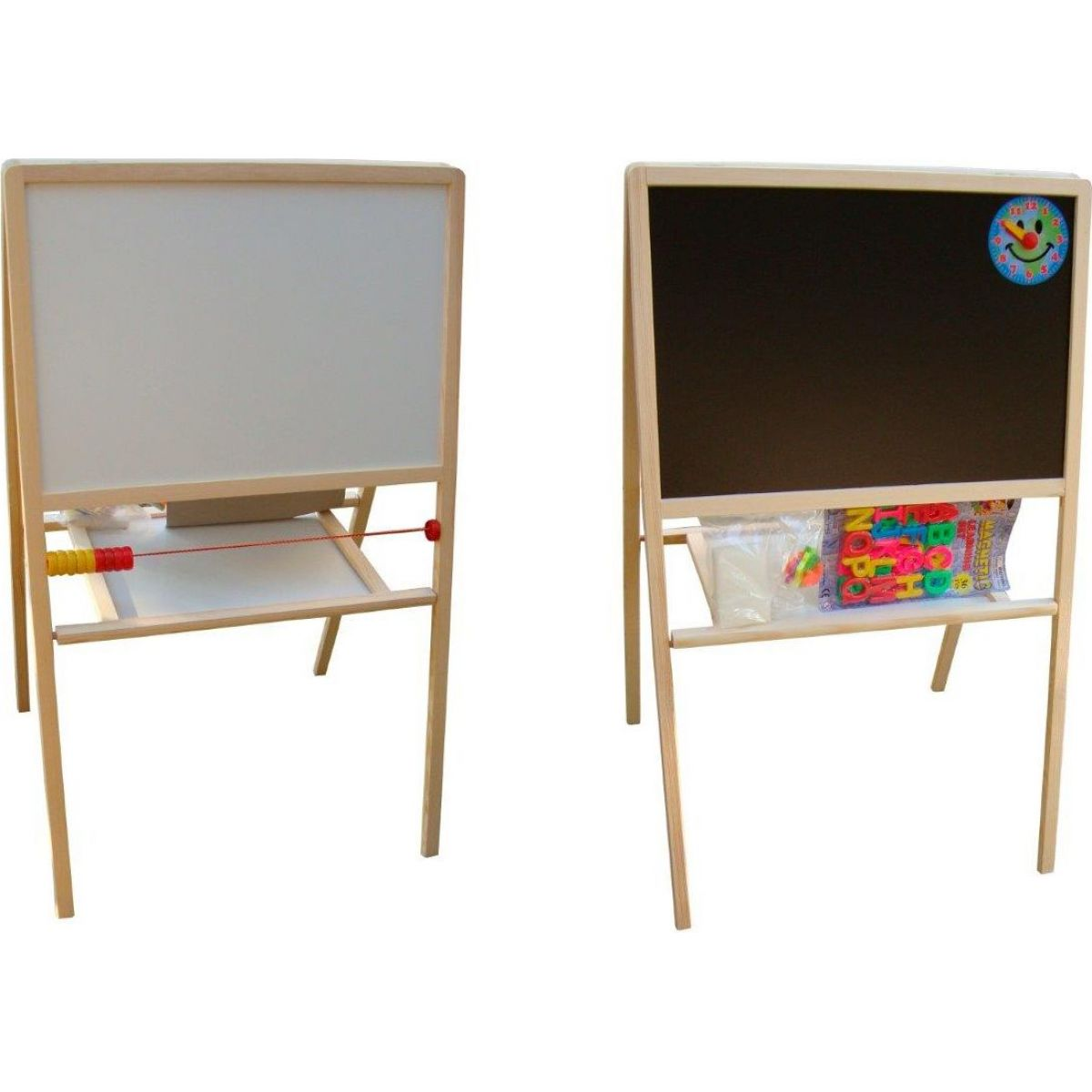 Toy Tabuľa školská obojstranná magnetická s hodinami