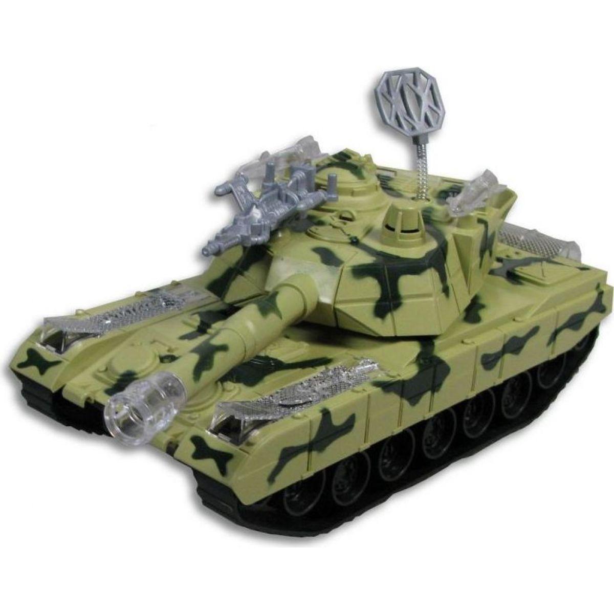 Made Tank se světlem a hudbou na baterie Zelená