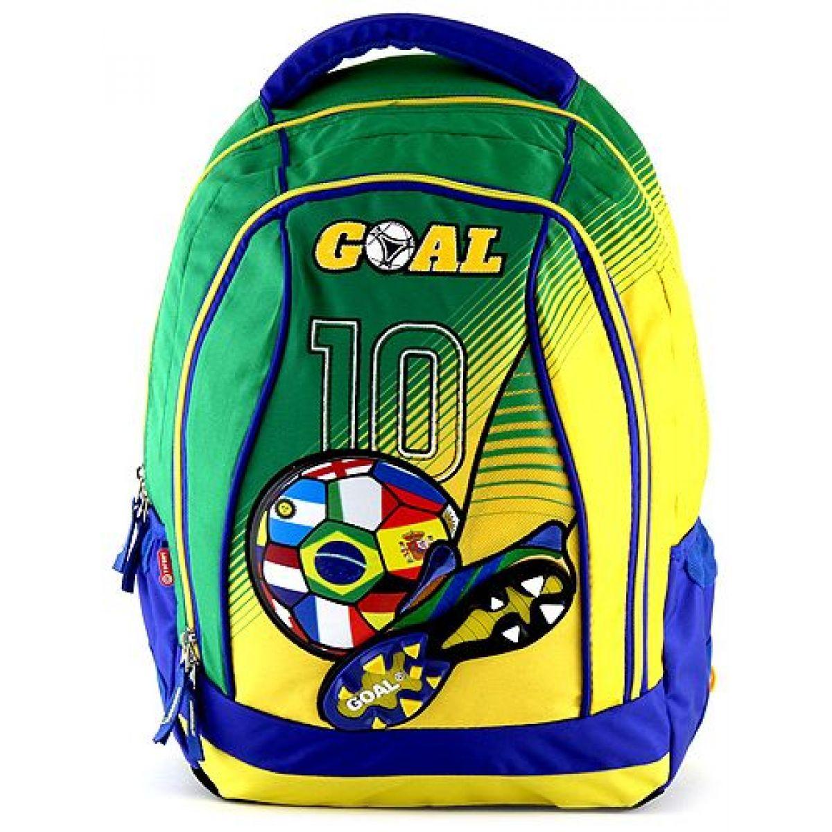 Target Batoh detský Futbal žltozelený