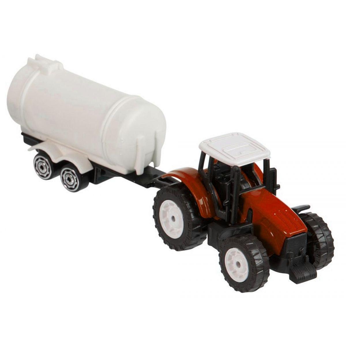 Teamsterz Traktor s prívesom - Červený traktor s cisternou
