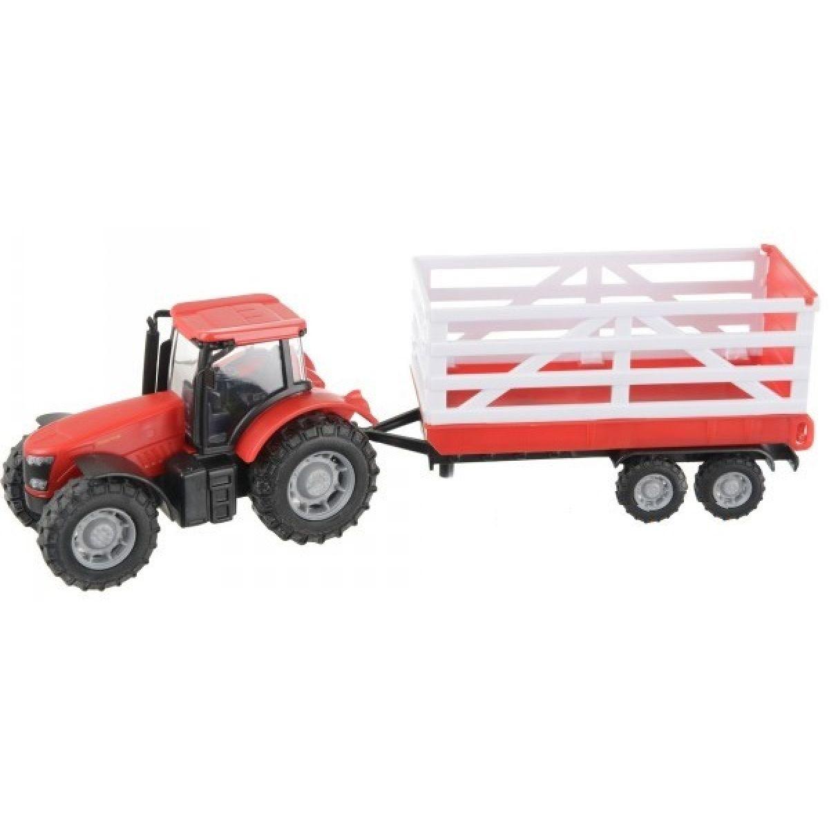 Teamsterz Traktor s prívesom - Červený traktor s prívesom