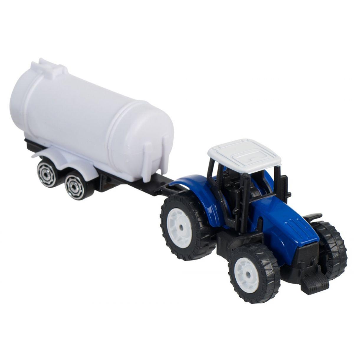 Teamsterz Traktor s prívesom - Modrý traktor s cisternou