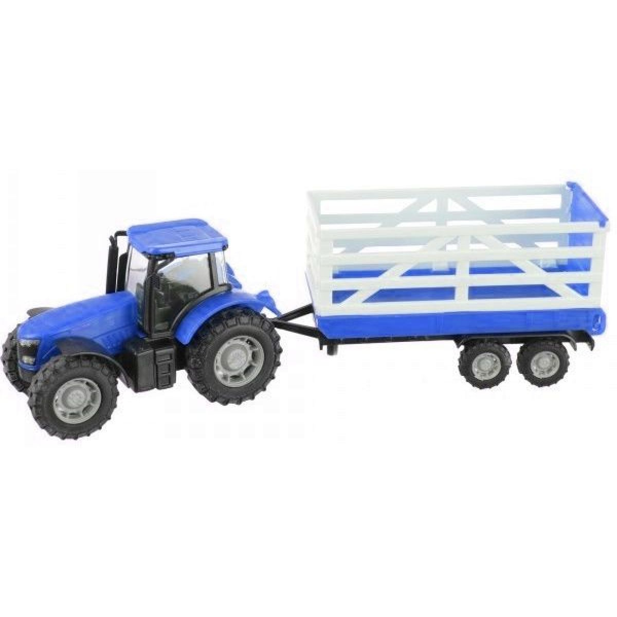 Teamsterz Traktor s prívesom - Modrý traktor s prívesom