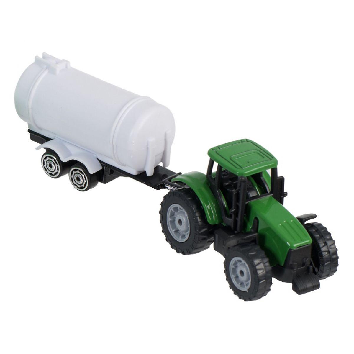 Teamsterz Traktor s prívesom - Zelený traktor s cisternou