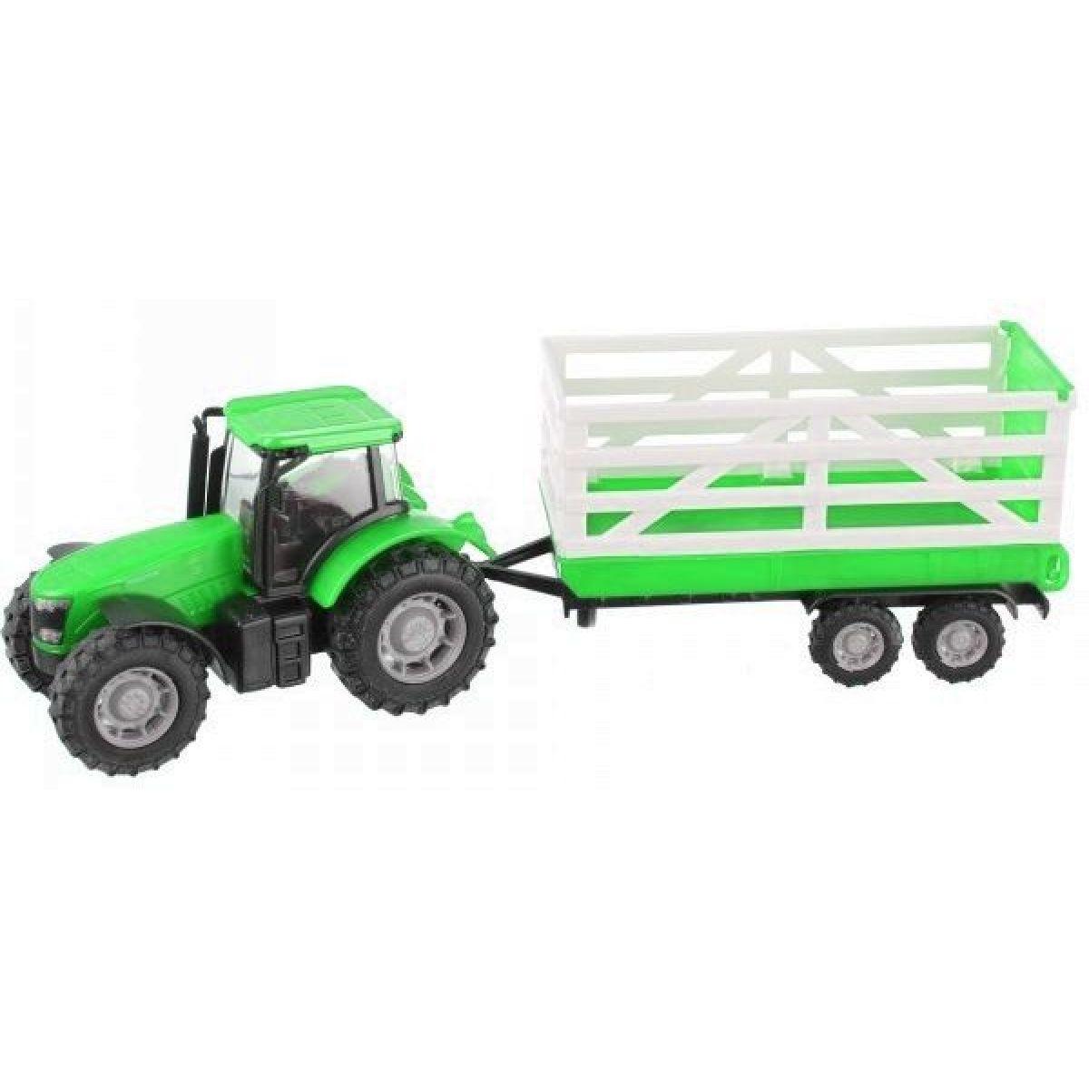 Teamsterz Traktor s prívesom - Zelený traktor s prívesom