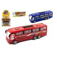 Teddies Autobus plastový 25 cm na setrvačník