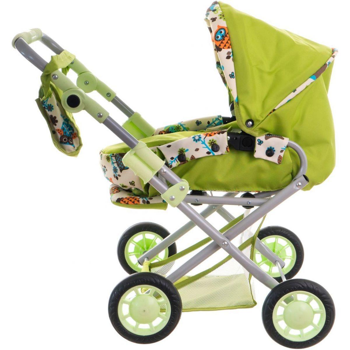 Kočík pre bábiky Magda trojkombinácia Zelený