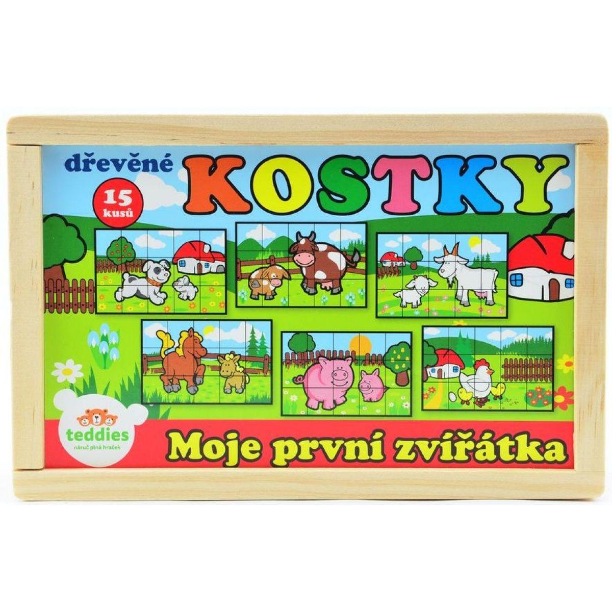 Teddies Kocky kubus - Moje prvé zvieratká 15ks