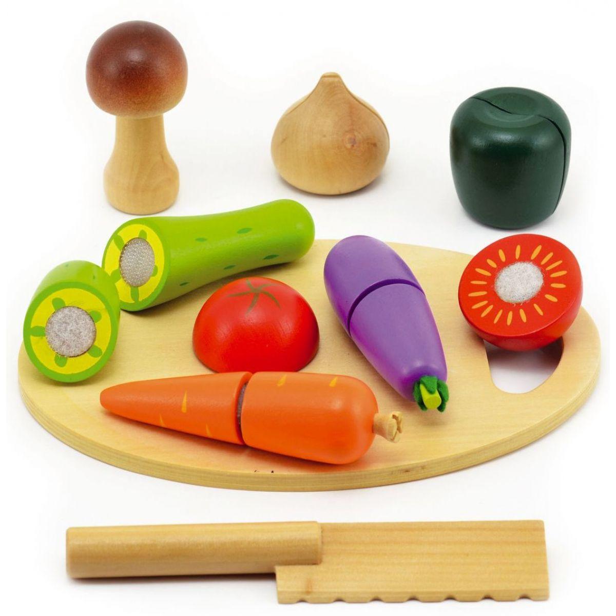 Teddies Krájacie ovocie a zelenina - drevo