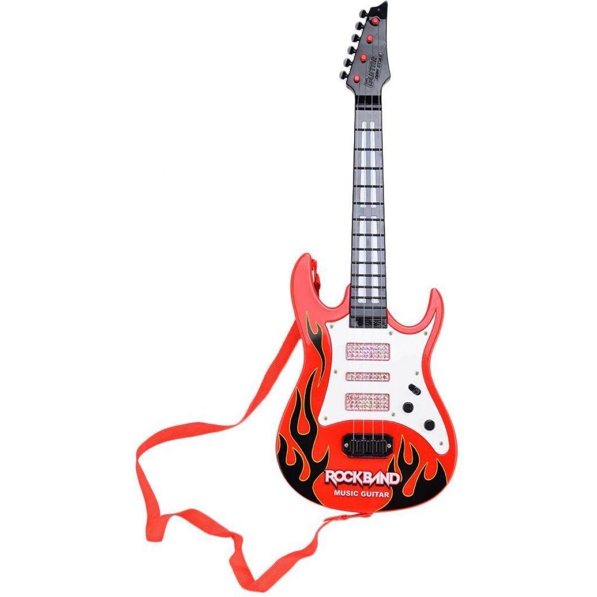 Teddies Gitara plastová 54cm na batérie so zvukmi a svetlami