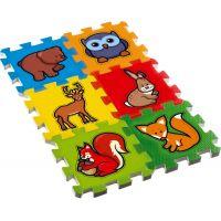 Teddies Penové puzzle Moje prvé lesné zvieratká 6 ks