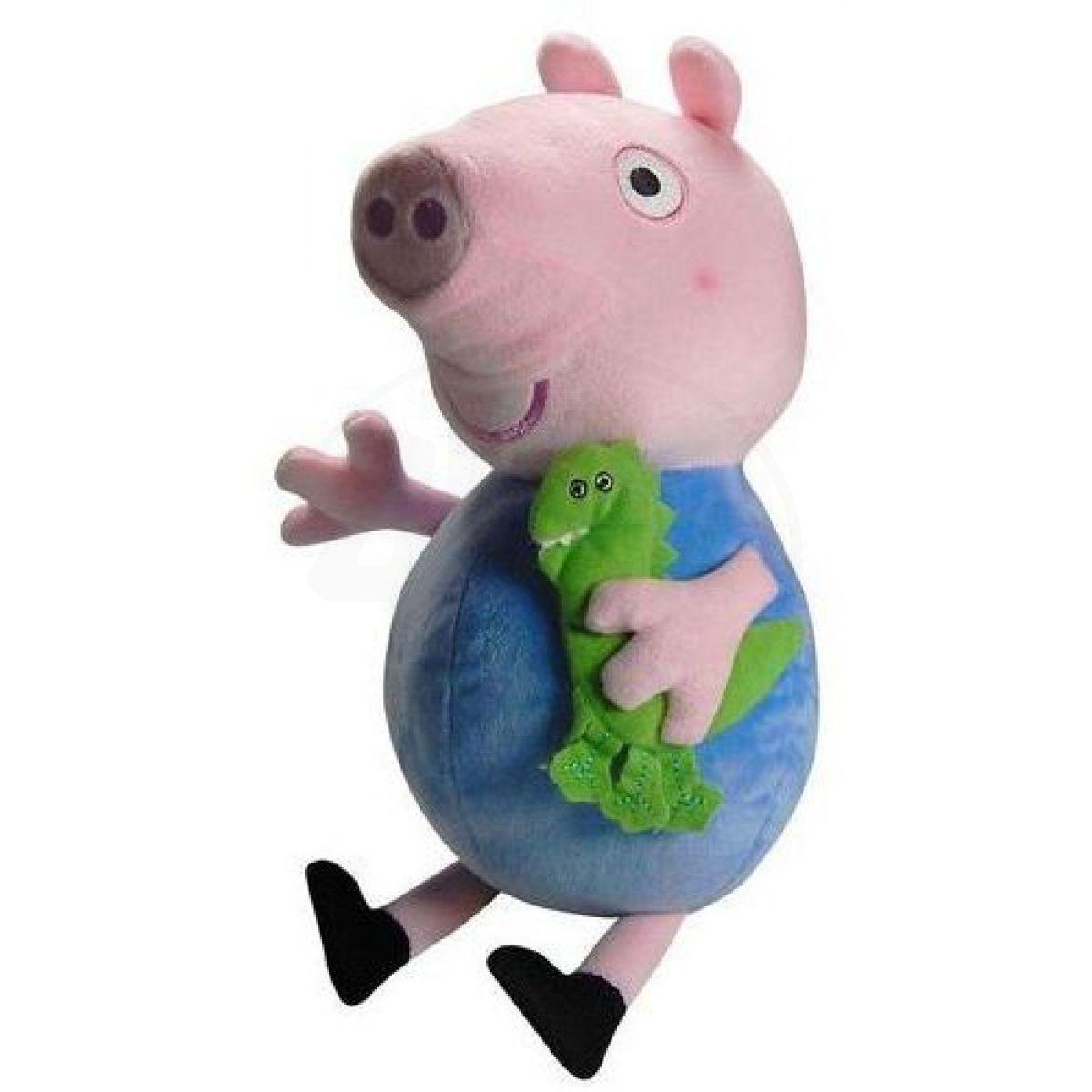 Teddies Plyšová postavička Tom z rozprávky Prasiatko Peppa 30 cm