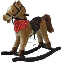 Teddies Plyšový hojdací kôň na batérie so zvukmi 65 cm