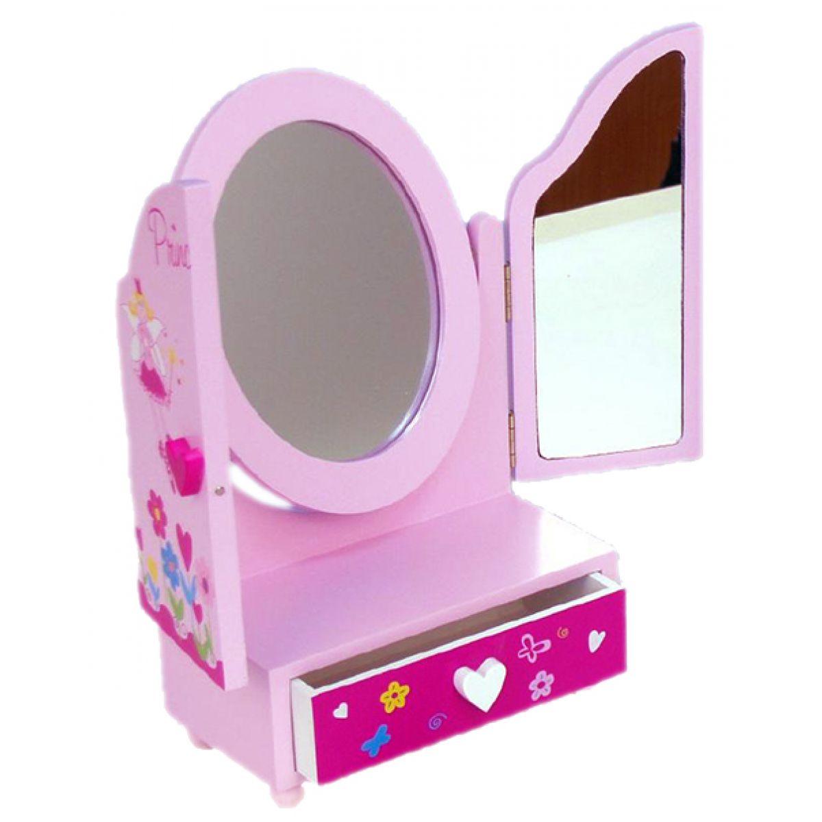 Teddies Zrkadlo s toaletným stolíkom a zásuvkou
