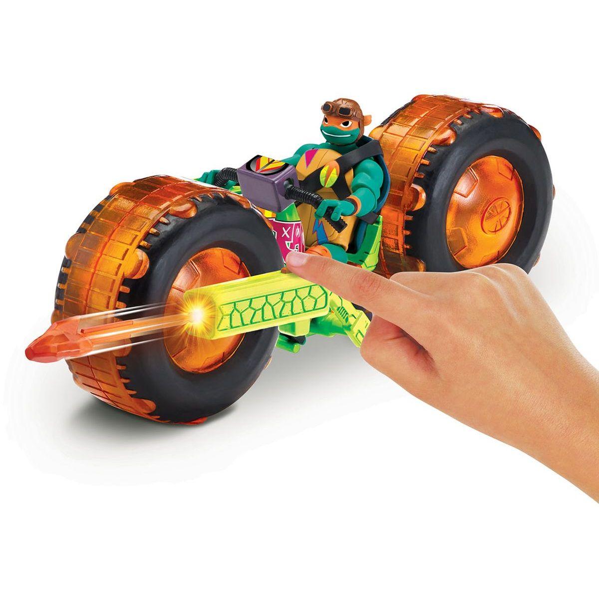 Teenage Mutant Ninja Turtles motorka s figurkou Michelangelo - Poškodený obal