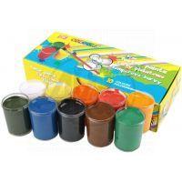 Easy office Temperové farby v kelímku 10 farieb 20 ml