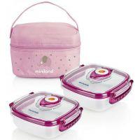 Termoizolačné púzdro + 2 hermetické misky na jedlo Pink