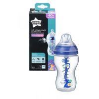 Tommee Tippee Dojčenská fľaša C2N ANTI-COLIC Boy 340 ml 3m + 3