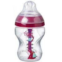 Tommee Tippee Dojčenská fľaša C2N Anti-Colic Girl 260ml 0m + růžová