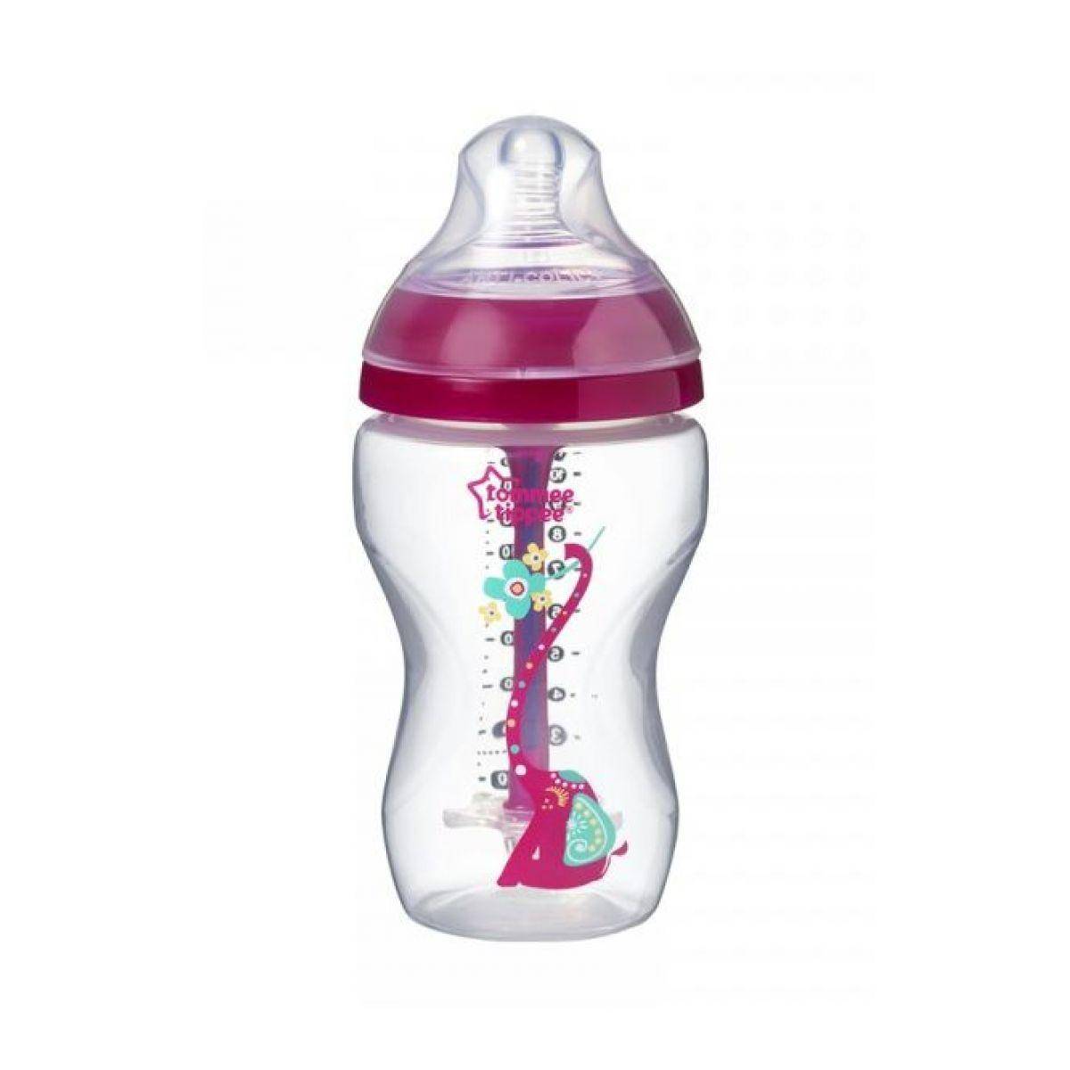Tommee Tippee Dojčenská fľaša C2N Anti-Colic Girl 340ml 3m +