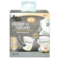 Nádobky na skladování mat. mléka Tommee Tippee C2N 4ks 0+m