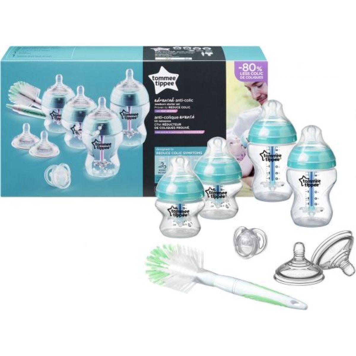 Tommee Tippee Sada dojčenských fľaštičiek C2N Anti-colic s kefou 422609TT