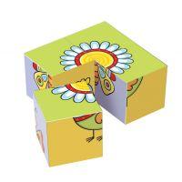 Topa drevené obrázkové kostky pro nejmenší děti 3