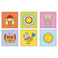 Topa drevené obrázkové kostky pro nejmenší děti 4
