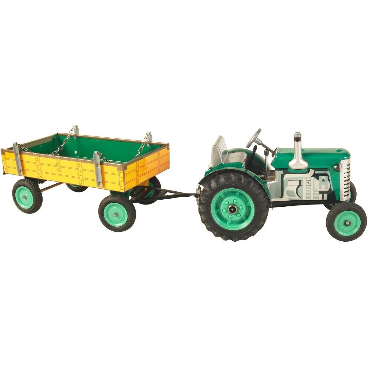 KOVAP Traktor Zetor s prívesom zelený