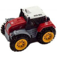 Traktor převracecí plast 10 cm červený