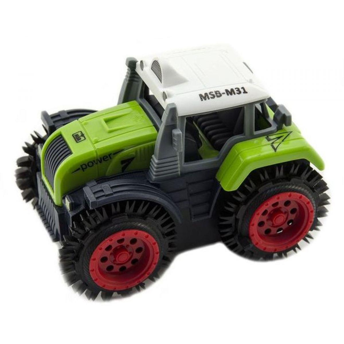 Traktor Prevracací plast 10 cm zelený