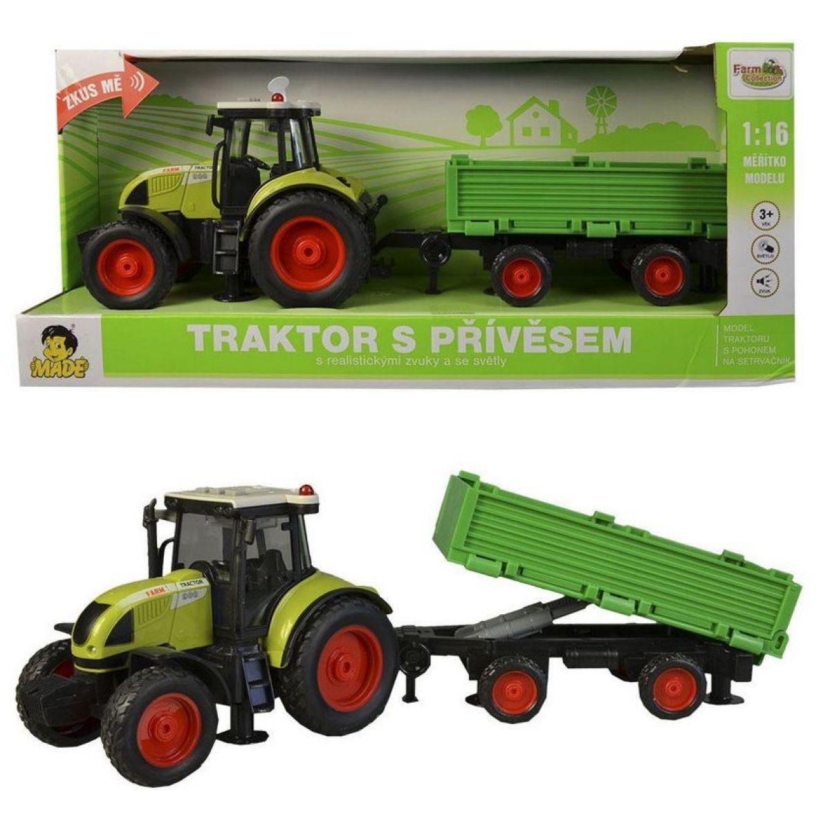 Traktor s vlečkou na setrvačník - Poškodený obal