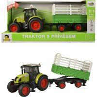Traktor s vlečkou na zotrvačník, 40cm, zvuk, svetlo
