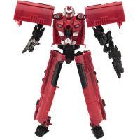 Transformer lokomotiva a robot 17 cm červená