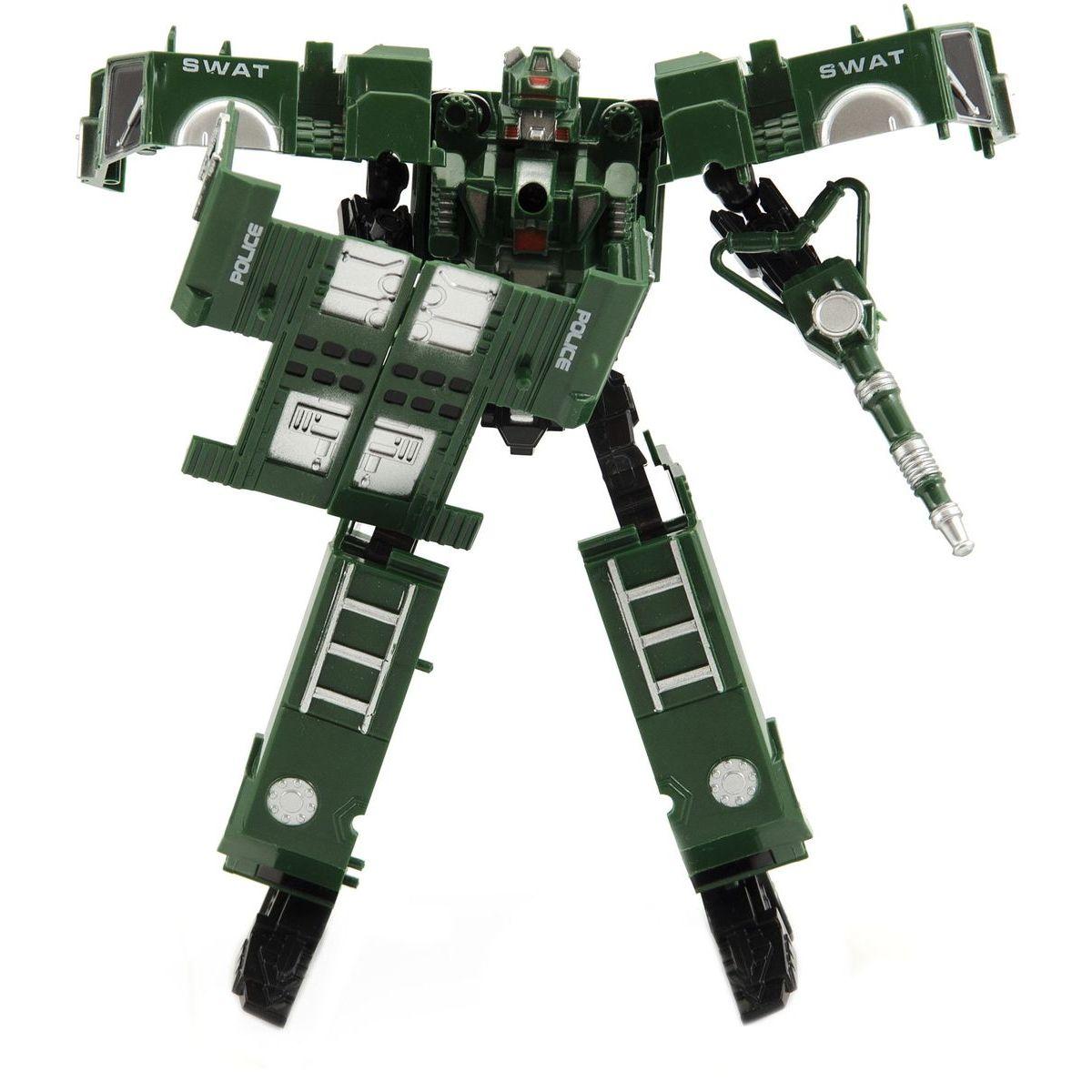 Transformer polícia 17 cm zelený