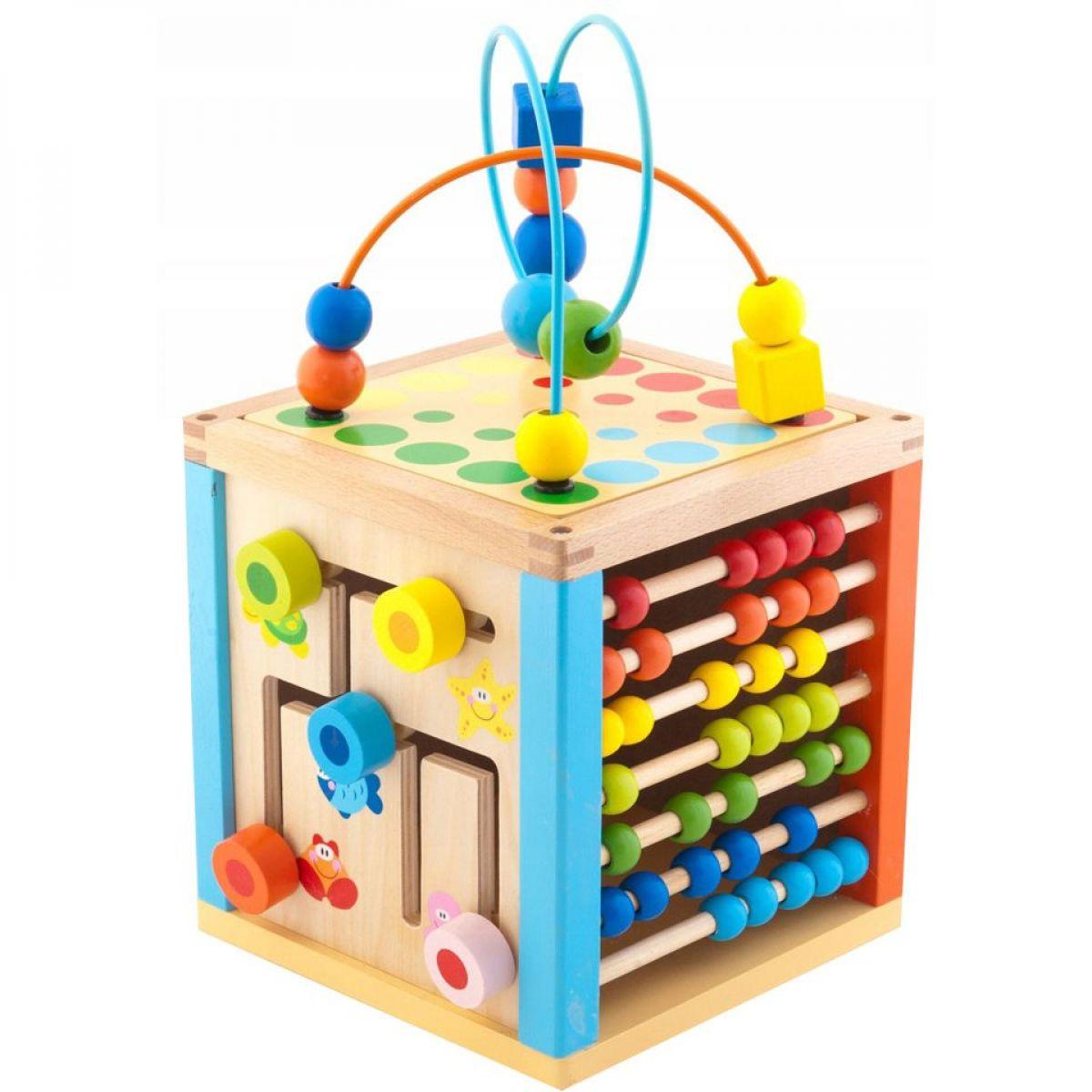 Trefl Drevená hračka Kostka zručnosti