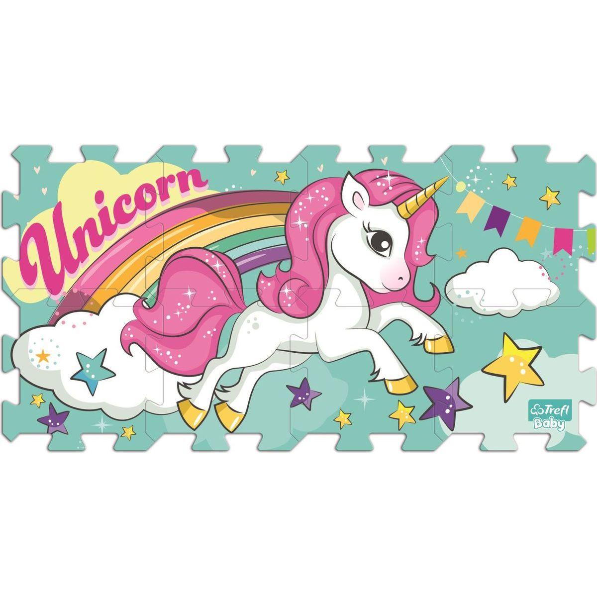 Trefl Foam Unicorn Penové puzzle 8ks