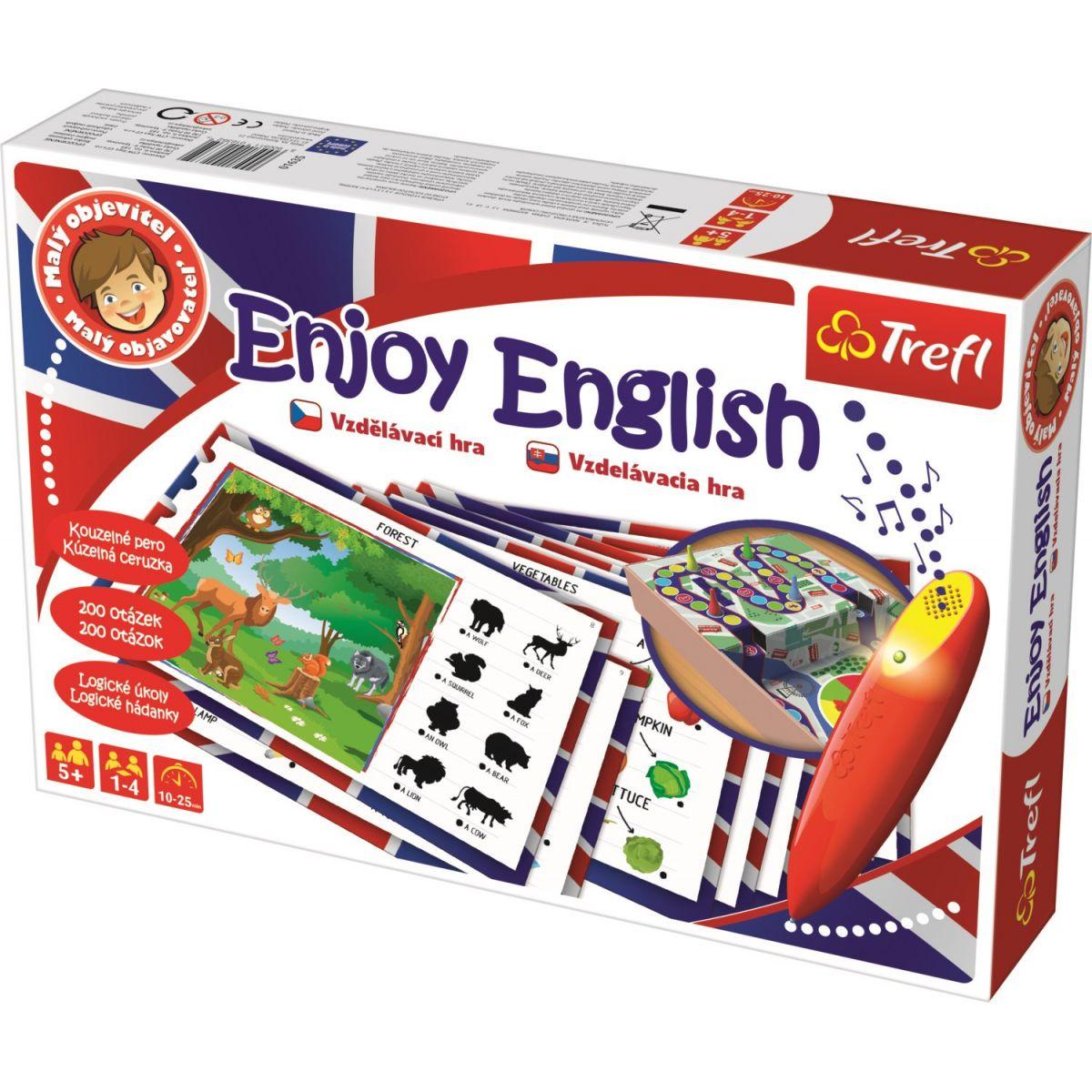 Trefl Malý objaviteľ Enjoy English sada s magickým perom
