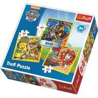 Trefl Puzzle 3 v 1  Tlapková Patrola Marshall, Rubble a Chase 4
