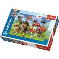 Trefl Puzzle Tlapková Patrola Pripravení do akcie 60 dielikov