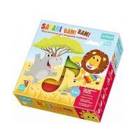 Trefl Safari Bim! Bam! Hudebně pohybová hra 10 v 1 s velký dřevěný xylofonem