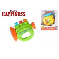 Trumpeta na baterie se zvukem a světlem Babys Happiness