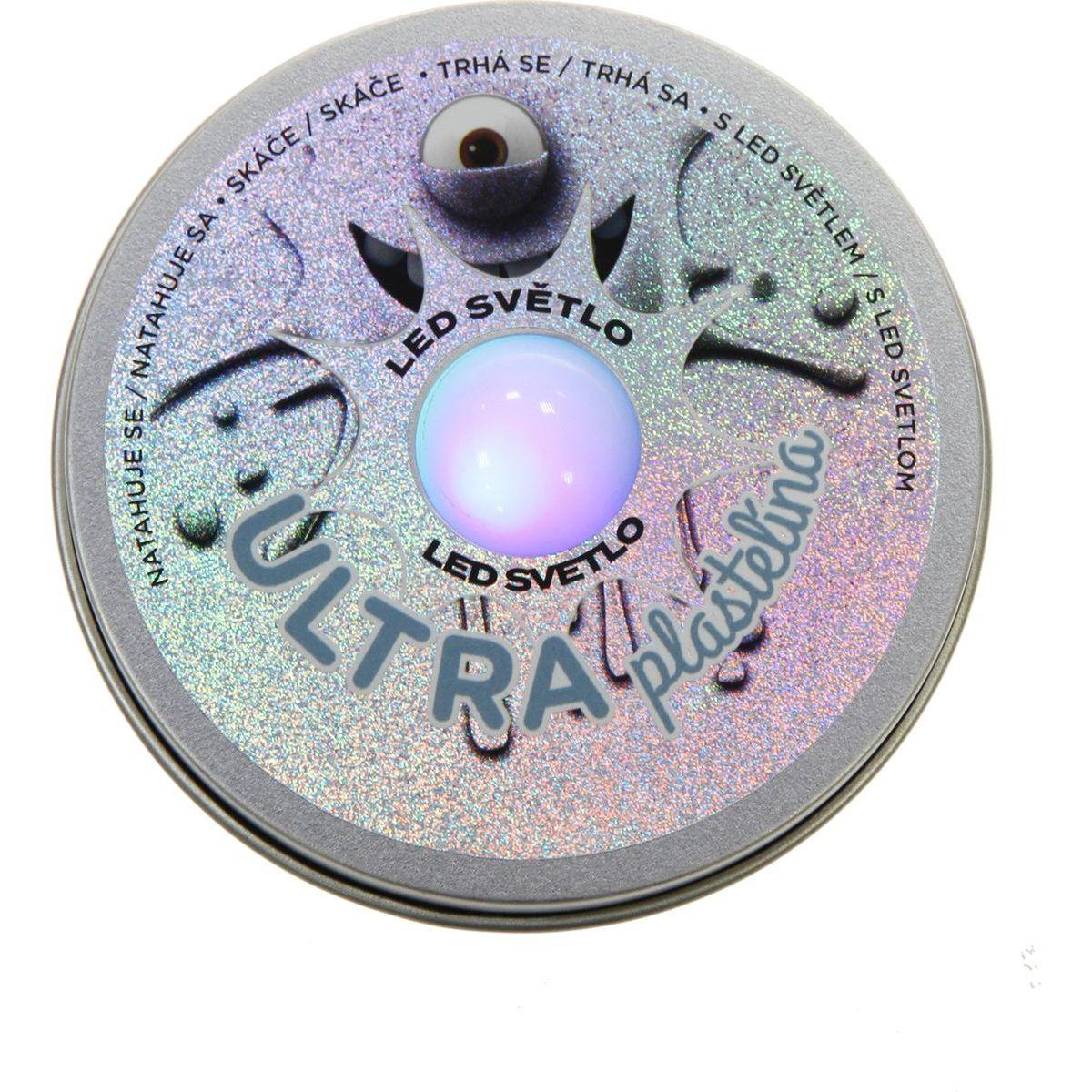 Ultra Plastelína 50g s led svetlom šedá