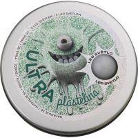 Ultra Plastelína 80g s led světlem zelená