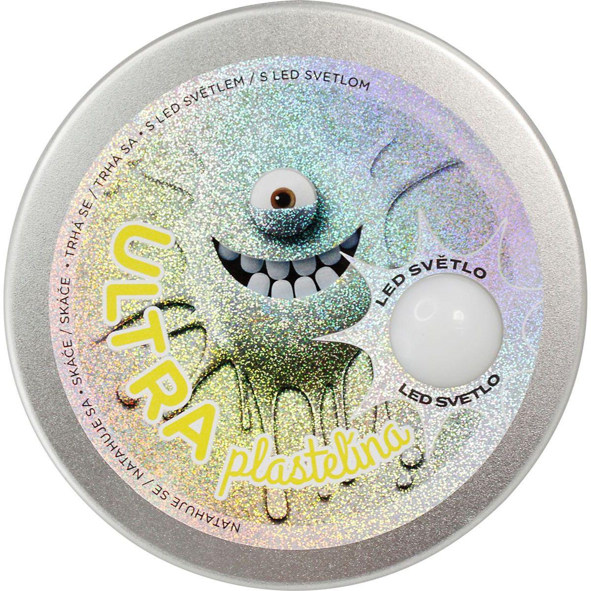 Ultra Plastelína 80g s led světlem žlutá
