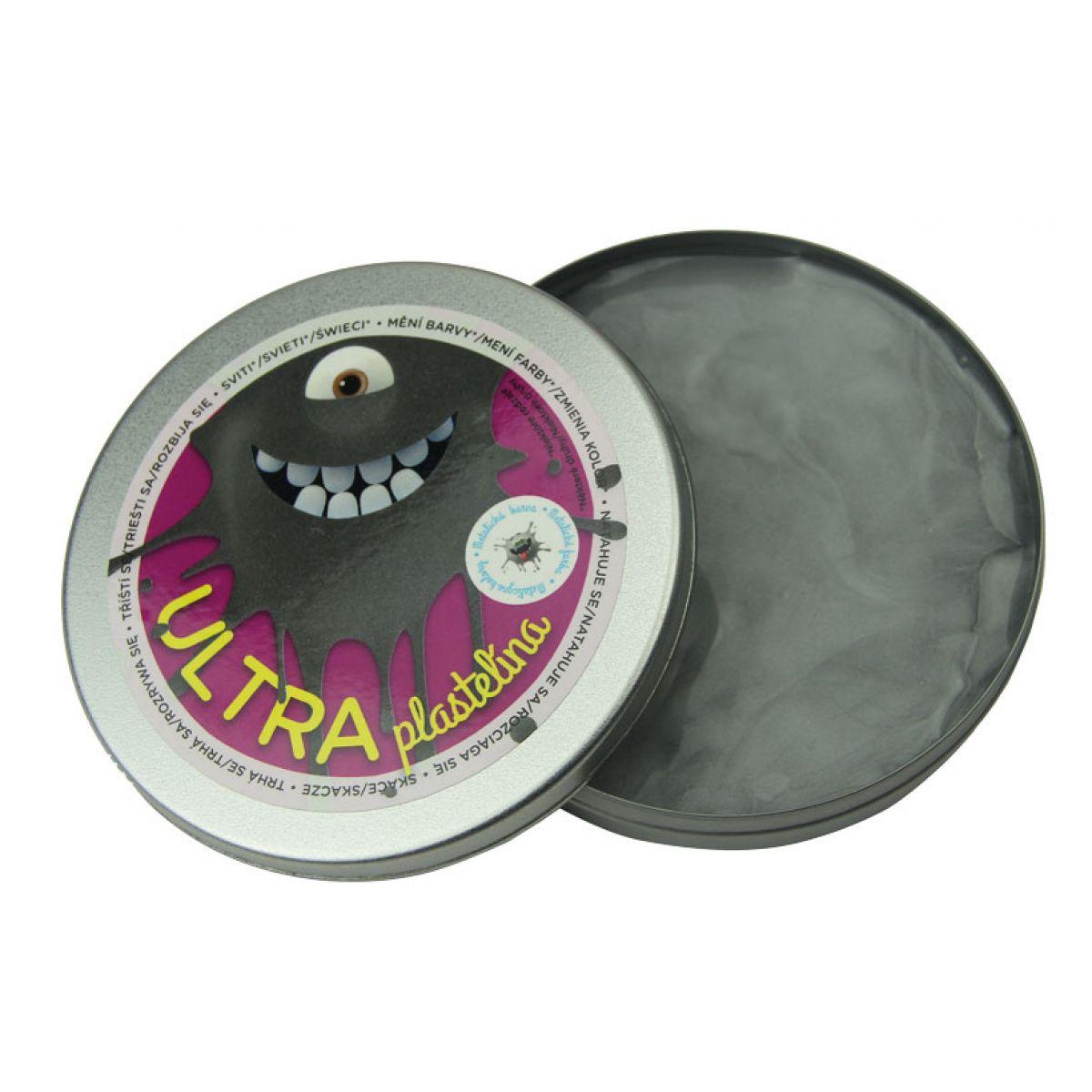 EP Line Ultra Plastelína Metalická 80 g Šedá